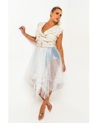 AKIRA Time Of My Life Tulle Vest - White