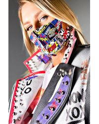 AKIRA Comic Relief Fashion Face Cover - Blue