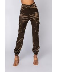 AKIRA - Mission Impossible Satin Cargo JOGGER Pants - Lyst