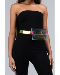 AKIRA - Daddy Waiting Clear Fanny Pack - Lyst
