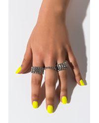 AKIRA Dazzling Ring Set - Metallic