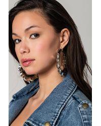 AKIRA Lady Bamboo Hoop Earrings - Metallic
