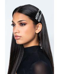 AKIRA Needy Af Hair Pin Set - Metallic