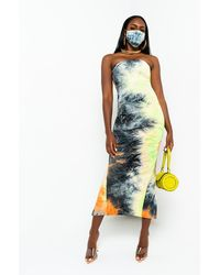 AKIRA In The Groove Tie Dye Tube Dress - Multicolor