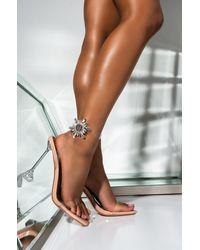AKIRA Let It Go Rhinestone Stiletto Heel - Multicolour