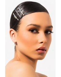 AKIRA Better Luck Rhinestone Hair Pin Set - Multicolour