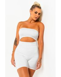 PAXTON Rema Cut Out Romper - White