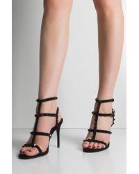AKIRA - Pretty In Punk Studded Sandals - Lyst