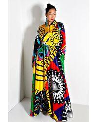 AKIRA Above It All Long Sleeve Maxi Dress - Multicolour