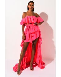 AKIRA Hold My Hand High Low Skirt - Pink