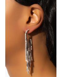 AKIRA Drip Drop Rhinestone Earring - Metallic