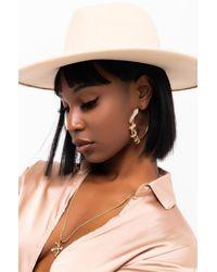 AKIRA Clover Babe Snake Hoop Earring - Metallic