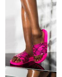 AKIRA Mysterious Flat Snake Slides - Pink