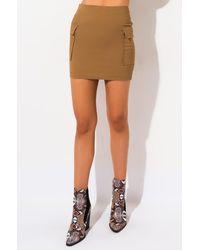 AKIRA It Has Pockets Cargo Mini Skirt - Brown