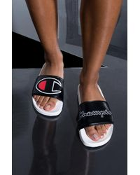 7eb0ffd7edf Champion Womens Ipo Script And Big C Logo Slide Sandal in Black for Men -  Lyst