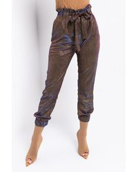 AKIRA Gold Rush Tie Front Pant - Multicolour