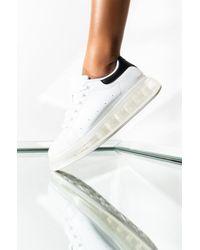 AKIRA Yummy Clear Sole Sneaker - White