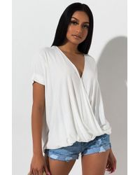 PAXTON - I'm A Believer Cross Front Top - Lyst