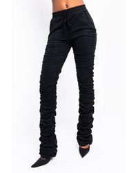 AKIRA You Know What To Do Stacked JOGGER - Black