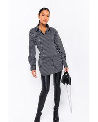 AKIRA Corinna Shirt With A Corset - Black