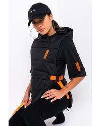PUMA Womens Central Saint Martins Padded Hoodie Vest - Black