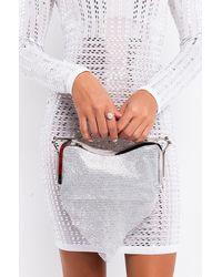 AKIRA Yum Yum Triangle Rhinestone Bag - Metallic