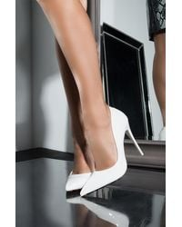 AKIRA Here To Stay Stiletto Pointed Toe Pump - White