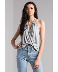 AKIRA - Just Maybe Halter Neck Tank Top - Lyst
