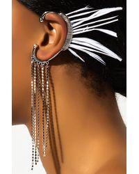 AKIRA Angel Wing Earring Cuff - Metallic
