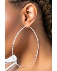 AKIRA Big Ole Hoop Earring - Metallic