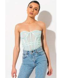 AKIRA Snatched Up Corset Top - Multicolour