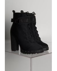 AKIRA - This Is It Side Buckle Bootie - Lyst