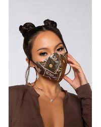 AKIRA Cash Rules 2.0 Rhinestone Fashion Face Cover - Multicolour