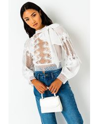 AKIRA Future Feels Long Sleeve Blouse - White