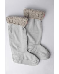 HUNTER - Womens 6 Stitch Cable Tall Boot Sock - Lyst