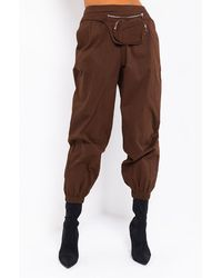 AKIRA Classic Touch Casual JOGGERS - Brown