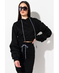 AKIRA Cold Brew Bubble Sleeve Hoodie - Black
