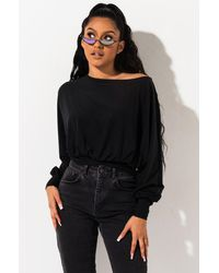 PAXTON Love Story Long Sleeve Top - Black
