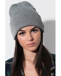 AKIRA - Everyday Knitted Beanie - Lyst
