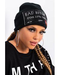 AKIRA Bad Bitch Bling Beanie - Black