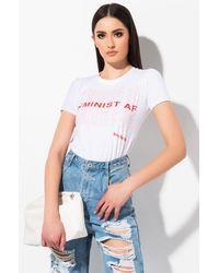 AKIRA Feminist Af Graphic T Shirt - White