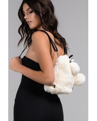 AKIRA - Drawn To You Faux Fur Backpack - Lyst