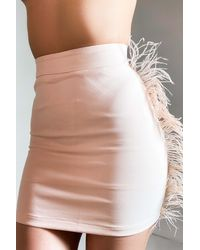 AKIRA Senorita Mami Feather Mini Skirt - Pink
