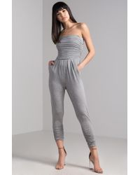 AKIRA - Wear Me Out Strapless Jumpsuit - Lyst