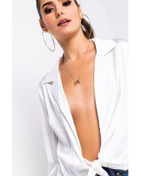 AKIRA Wrap Me Tie Front Blouse - White