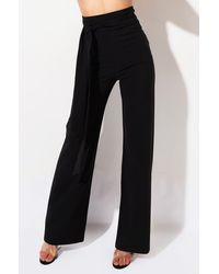 AKIRA The Way I Want It High Rise Wide Leg Trousers - Black