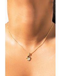 AKIRA Hamsa Hand Necklace - Metallic