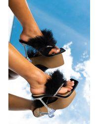 AKIRA Buss It Stiletto Sandal - Black