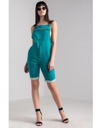 Champion - Reverse Weave Terry Cotton Short Overalls - Lyst