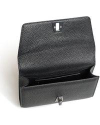 Akris Small Belt Bag In Cervo Leather With Detachable Belt - Black